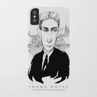 kafka iPhone & iPod Cases featuring Franz Kafka by Howard Coale