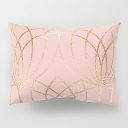 Rose gold millennial pink blooms Pillow Sham