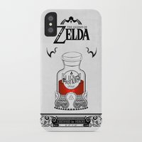 the legend of zelda iPhone & iPod Cases featuring Zelda legend - Red potion  by Art & Be