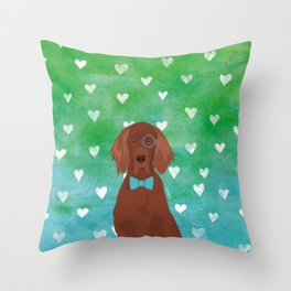 Irish Setter Watercolour Throw Pillow