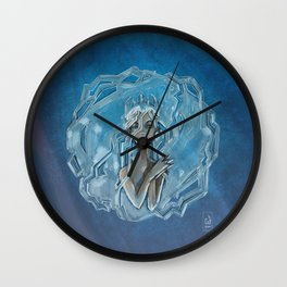 Ice Afro Queen Wall Clock