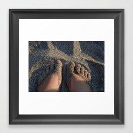 Shoes of Sand Framed Art Print