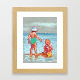Beach Babies Framed Art Print