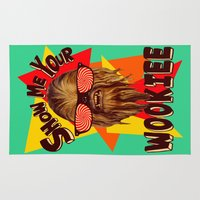 chewbacca Area & Throw Rugs featuring Show Me Your Wookiee!  |  Chewbacca  by Silvio Ledbetter