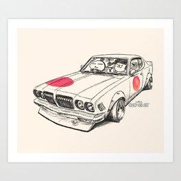Crazy Car Art 0170 Art Print
