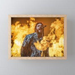 Austin Richard Post - Posty - Malone - Society6 Online - Rap - Hip Hop - Photography FIRE Framed Mini Art Print