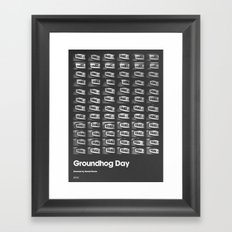 A MOVIE POSTER A DAY: GROUNDHOG DAY. Framed Art Print