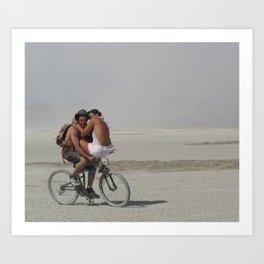 The Bike Ride. Art Print