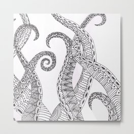 Tentacle Tangle Metal Print