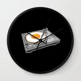 Egg Scratch Wall Clock