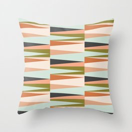 Scandinavian Geometry Pattern green #Homedecor Throw Pillow