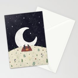 stargazing small mouse Stationery Cards