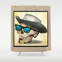 cowboy Shower Curtains featuring Cowboy by robweissillustration.com