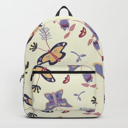 Butterfly flower Backpack