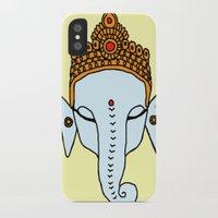 ganesha iPhone & iPod Cases featuring Ganesha by RaJess