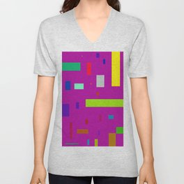 Squares and Rectangles 2 Unisex V-Neck