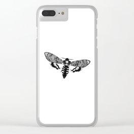 Deaths Head Moth Clear iPhone Case