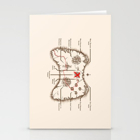 Controller Map Stationery Cards