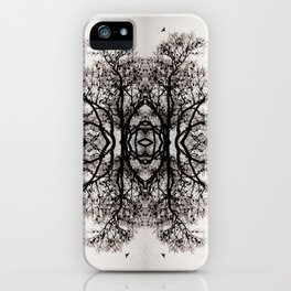 Winter Storm Ink Blot iPhone Case