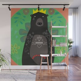 King Bear Wall Mural