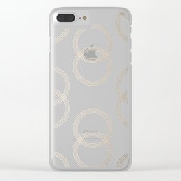 Simply Infinity Link in White Gold Sands on White Clear iPhone Case