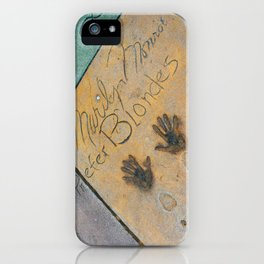 Marilyn Hand Prints in Hollywood iPhone Case