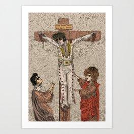 Elvis Fucking Christ! Art Print