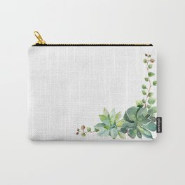 Succulent Cluster Carry-All Pouch