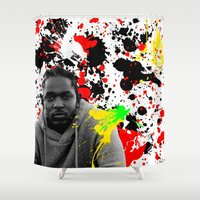 literature Shower Curtains featuring Literature by Kerosene Bill