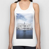 detroit Tank Tops featuring Detroit Typography by Evan Smith