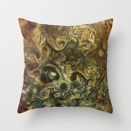 Jupiter's Clouds 2 Throw Pillow