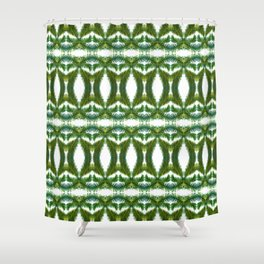 Palm Leaf Kaleidoscope (on white) #2 Shower Curtain