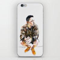 kendrick lamar iPhone & iPod Skins featuring Kendrick Lamar by Aleksandra Stanglewicz