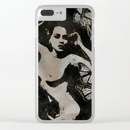 Heavy Crown II (nude butterfly pin up, erotic graffiti) Clear iPhone Case