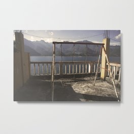 Swing on the lake Metal Print