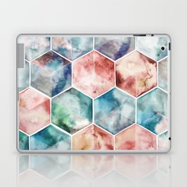 Earth and Sky Hexagon Watercolor Laptop & iPad Skin