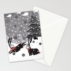 Snow Carnival Stationery Cards