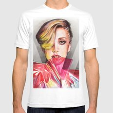 V Mag Mens Fitted Tee White SMALL