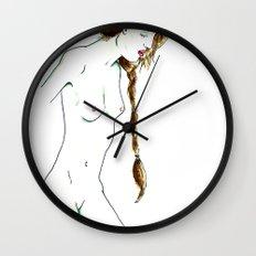 Plait Girl Wall Clock