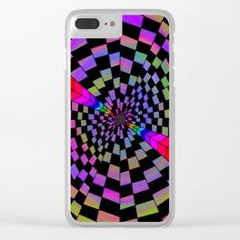 Rainbow Hole Clear iPhone Case