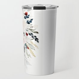 Loose Watercolor Bouquet Travel Mug