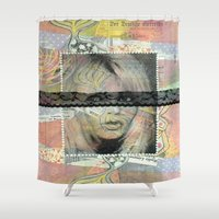 lolita Shower Curtains featuring Lolita Syndrome by Porfyra