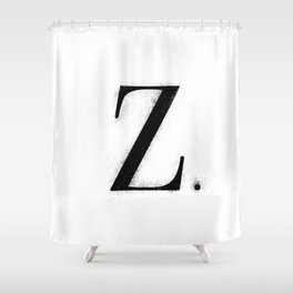 Z. - Distressed Initial Shower Curtain