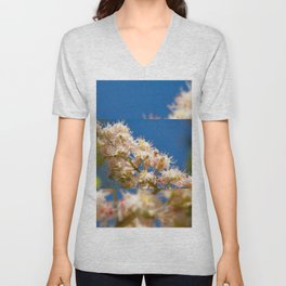 Macro of blooming Aesculus Unisex V-Neck