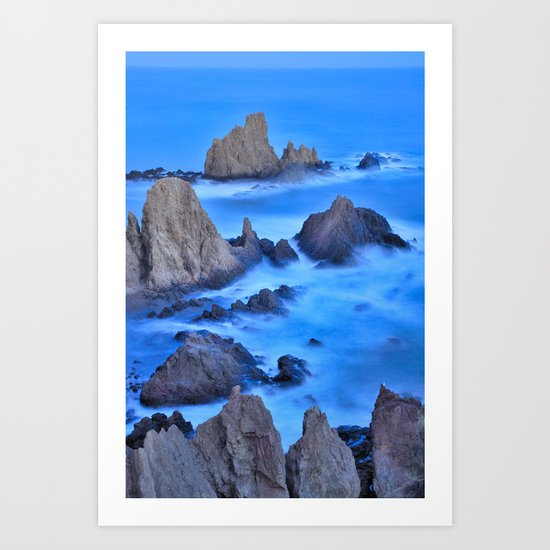 Blue sunset at the Sirens Art Print
