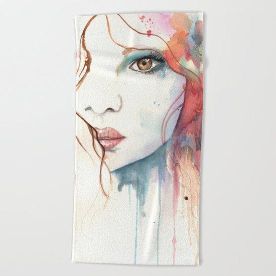 Girl ASD 01 Beach Towel