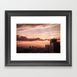 Dawn in the city Framed Art Print
