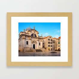 Early Morning in Dubrovnik, Croatia Framed Art Print