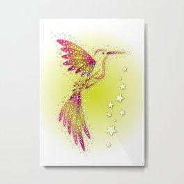 Bubble Bird 2 Metal Print