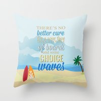 lilo and stitch Throw Pillows featuring choice waves.. lilo and stitch by studiomarshallarts